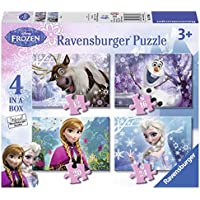Ravensburger 7360 Disney Frozen 4 in Box Jigsaw Puzzles - 12, 16, 20 and 24 Pieces