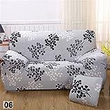 Matratzenschonbezüge Sofa für 4Sitzer mit Blume bedruckt elastisch für Sitz Sessel Dekoration des Hauses und Wohnzimmer, Branche, 4 places
