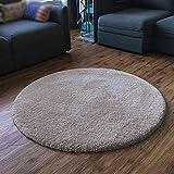GXY Nordic soggiorno tappeto rotondo tappeto divano tavolino camera da letto letto coperta peluche super soft Tappeto (Colore : Light camels, dimensioni : 200cm)
