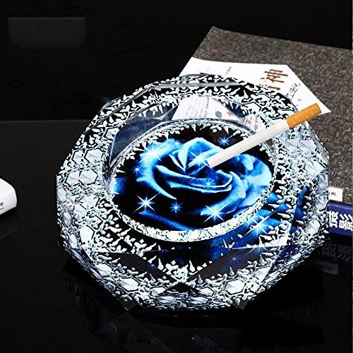 BCX Aschenbecher Kristall Luxus Möbel Kreative Dekoration europäischen Luxus Internet Café Custom Office Aschenbecher,15 cm,Aschenbecher
