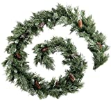 9ft (2.7m) Scandinavian Blue Spruce Christmas Garland with Pine Cones