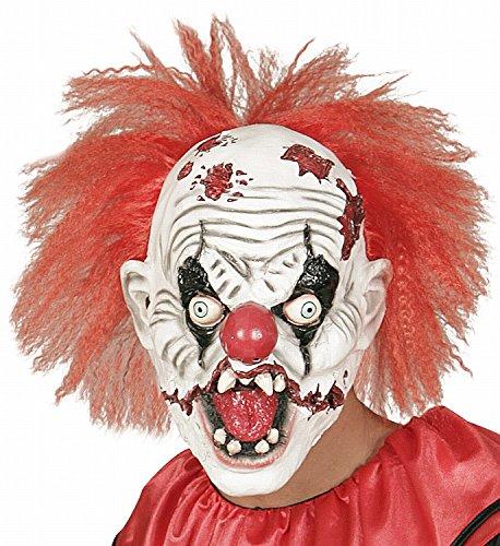 Widmann 01018 - Maske Killer Clown mit Haar