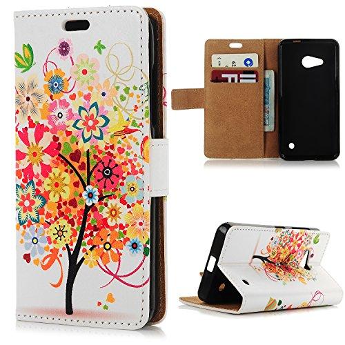 Nokia 550 Lumia Cover Libro,YOKIRIN Custodia Flip per Nokia Microsoft Lumia 550 Case PU Leather con il Supporto, Chiusura Magnetica e Slot per Schede / Tasche per Carte di Credito - Disegno Albero 1