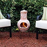 Kingfisher 75cm Small Terracotta Wood Burning Chiminea Outdoor Garden Furniture