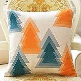 WEBO HOME- 45 * 45cm / 18*18 Nordeuropa einfache Geometrie Büro-Sofa Baumwolle und Leinen Kissenkissenbezug*18 -Kissen ( Farbe : # 1 )