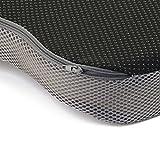 Ergotopia Orthopädisches Sitzkissen / Steißbeinkissen aus Viscoschaumstoff / Ergonomisches Sitzkissen zur Vorbeugung und Linderung von Rückenschmerzen sowie Ischias Problemen (Grau) - 6