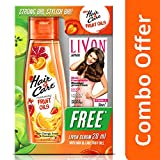 #10: Hair & Care Fruit Oils with Orange Anaar and Strawberry, 200ml with Free Livon Serum, 20ml (Worth Rupees 60)