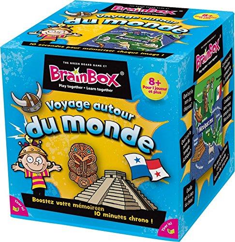 Asmodee - 93303 - Brain Box - Voyage Autour du Monde - Jeu Enfants