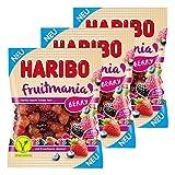 Haribo Fruitmania Berry, 3er Set, mit Fruchtsaft, Gummibärchen, Weingummi, Fruchtgummi, im Beutel, 525 g