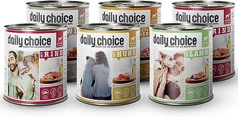 daily choice | Nassfutter für Hunde | Extra viel pures Fleisch & Innereien | Getreidefrei | Optimal verdaulich Tierversuche, Zucker, Farb- & Konservierungsstoffe