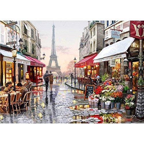 KAYI 5D Diamond Painting Paris Street Scene Teilweise gebohrte Rhinestone Hand Handwerk Malerei Wohnkultur