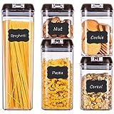 HOMELODY Lot de 5boîtes de conserve pour la cuisine, avec couvercle hermétique, sans BPA, bocaux de conservation pour pâtes,
