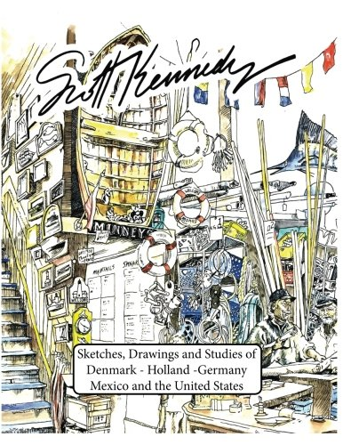 Scott Kennedy Minney's: Sketches,Drawings,Studies of Denmark-Holland-Germany-Mexico-USA