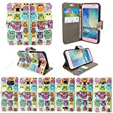 Gr8 value Nokia 630 and 635 Pu Luxury PU Leather Wallet Cover Flip book Phone Mobile case for Nokia Lumia 630 and Nokia 635 book Cover (Multi Owl book Case)