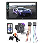 2 Din Car Radio In Dash,Vuffuw 7 Inch Touch Screen Car Stereo DVD Player Built-in BT,USB Port,SD,AUX Input,AM/FM Steering...