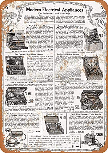 OURTrade 12 x 16 Metal Sign - 1917 Sears Electric Medical Device Vibrators - Vintage Look -
