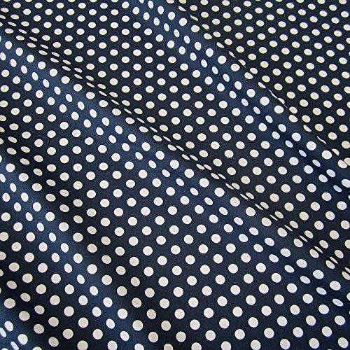 861f130e4f8ae Stoff Baumwollstoff Baumwolle marine weiß Punkte M blau gepunktet Tupfen