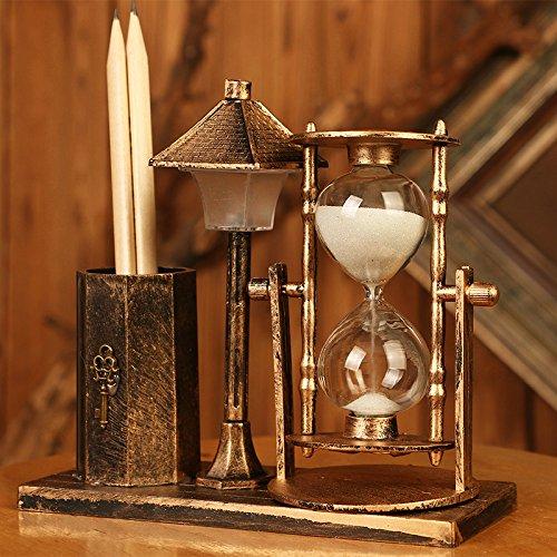 KIKIXI Home Decor Antique Vintage Bar Cafe Möbel Handwerk Sand Glas Nacht Licht Glas Kunststoff Ausstattung Miniatur Handwerk -
