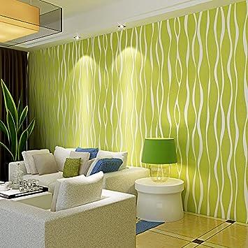 Tapete schlafzimmer grün  Tapete Fototapete Wallpaper Gestreifte Tapete warme Wohnzimmer ...