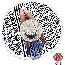 Manta de playa -G.G.G. ronda mandala tapicería indio pared colgando playa toalla toalla de yoga mat Fresa Bolsa de la compra (Como regalo)