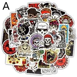 Skeleton Stickers Ghost Skull Rock Motocicleta Scrapbooking Sticker Para DIY Laptop Skateboard Equipaje Guitarra Bicicleta 100 unids