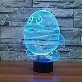 3D Pinguin Glühen LED Lampe 7 Farben erstaunliche optische Täuschung Art Skulptur Ferneinstellung Lichter produziert einzigartige Lichteffekte und 3D-Visualisierung für Home Decor-kreative Geschenk