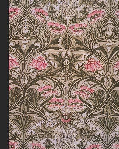 Columbine Kostüm - Vintage illustration journal: Unique designed dot grid Journal for the vintage illustration lover - Arts and craft movement - William Morris - Pink and sage Vintage Bluebell or Columbine