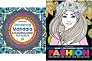 Refreshing Mandala - Colouring Book for Adults Book 1 + Fashion - Adult Colouring Book for Peace & Relaxat