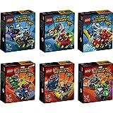 Lego Super Heroes Mighty Micros 6er Set 76061 76062 76063 76064 76065 76066 Batman & Catwoman + Robin & Bane + Flash & Captain Cold + Spider Man & Green Goblin + Captain America & Red Skull + Hulk & Ultron
