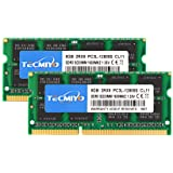 TECMIYO Kit 16 Go (2 x 8 Go) PC3L 12800s Sodimm DDR3 / DDR3L 1600 MHz CL11 PC3-12800 1,35 V/1,5 V 204 Broches Non ECC SODIMM