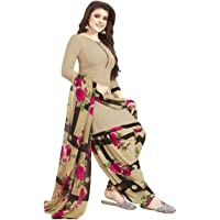Mirraw Beige Synthetic Unstitched Salwar Suit/Kameez Dress Material With Dupatta For Women's & Girl's - For All Occasion