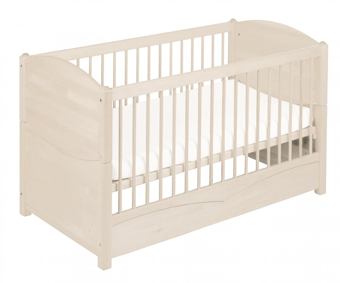 BioKinder 22128 Bed for babies and toddlers Luca from biological wood Bio-Kinder Bed Luca for Babies and Toddlers Adjustable height. 3 removable bars. Various features Sustainable solid biological wood (alder/pine). Biological finish 3
