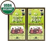 Pride Of India Bio Tulsi Kräutertee (entkoffeinierter Kaffee), 25 count (2pack)