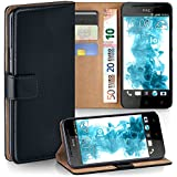 OneFlow PREMIUM - Book-style case in a wallet design with stand function - for HTC One SV - DEEP-BLACK