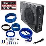 PHOENIX GOLD Komplett-Set Z8150 20cm Aktiv-Subwoofer 150W RMS + Stinger Select SSK8 Verstärker-Kabel-Set (8GA/600W)