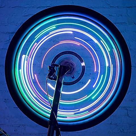 Xcellent Global Luz LED Colorida Aro Rin Rueda Ciclismo Bici Bicicleta Resistente Agua 1PZA FS033