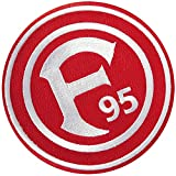 Aufnäher Fortuna Düsseldorf Logo - 8 x 8 cm + gratis Aufkleber, Flaggenfritze®