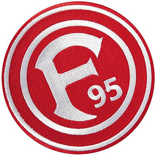 fortuna duesseldorf aufkleber Aufnäher Fortuna Düsseldorf Logo - 8 x 8 cm + gratis Aufkleber, Flaggenfritze®