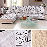 Kingko® Gestreiftes Sofa-sektionaler Abdeckungs-Fall (240*70cm)