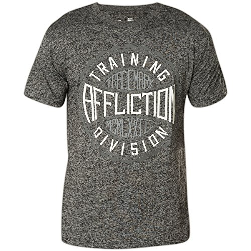 Affliction T-Shirt Trademark Gear Grau, XXXL - Affliction T-shirt Aus Baumwolle
