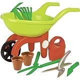 Simba 63229 107137758 – skottkärra med trädgårdsverktyg, grön/orange