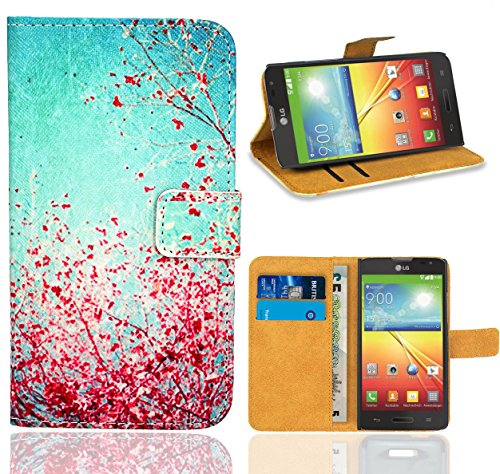 Für Optimus Case Lg L70 Handy (LG Optimus L70 / LG L70 Handy Tasche, FoneExpert Wallet Case Flip Cover Hüllen Etui Ledertasche Lederhülle Premium Schutzhülle für LG Optimus L70 / LG L70)