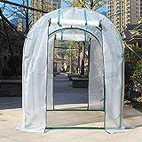 XY&CF-Flower house Pflanzen gewächshaus PE mesh Tuch alle Stahl Skeleton doppeltür gewächshaus Garten (200 * 200 * 200 cm) (Farbe : A)