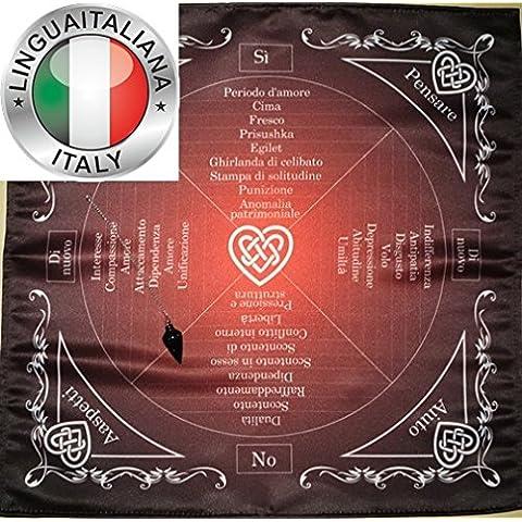 Tovaglia per impostare il pendolo Amore magia, emozione e Relazioni persone + Pendolo Stella Aventurine.