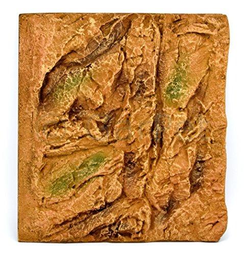 3d Aquarium Rückwand River Clay Struktur Module Elemente alle Größen Rock Felsen (45x48 cm)