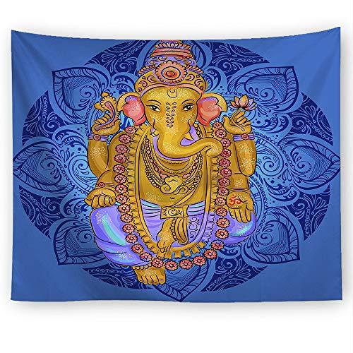 Rjjdd Elefante Tapiz Colgante De Pared Sala De Estar Decoración Yoga Creatividad 7 Chakra Tapicería Manta Toalla Playa Toalla De Pared 150X130Cm