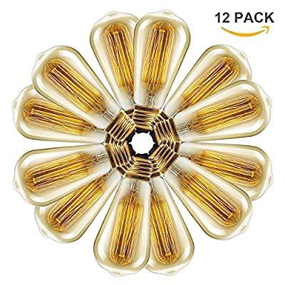 Vintage light bulb Retro old fashioned Edison Style E27 Screw ST64 19 anchors 40W 220V - Squirrel Cage tungsten filament glass antique Lamp [Energy Class D]