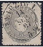 Goldhahn Sachsen Nr. 19 c gestempelt Geprüft Briefmarken für Sammler