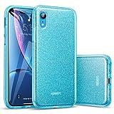 ESR Coque pour iPhone XR 2018 Bleu, Coque Silicone Paillette Strass Brillante Bling...