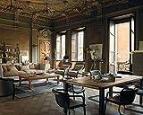 Esstisch Industrial2 aus recyceltem Altholz handmade Möbeldesign in Italy
